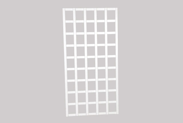 Köynnösritilä, valkoinen 90 x 180 cm