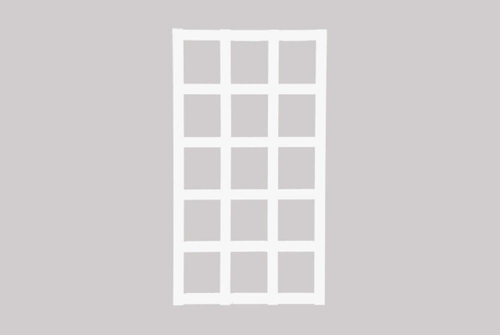 Köynnösritilä, valkoinen 56 x 101 cm