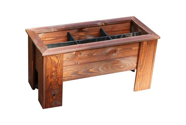 Yrttilaatikko, ruskea 35 x 32 x 70 cm