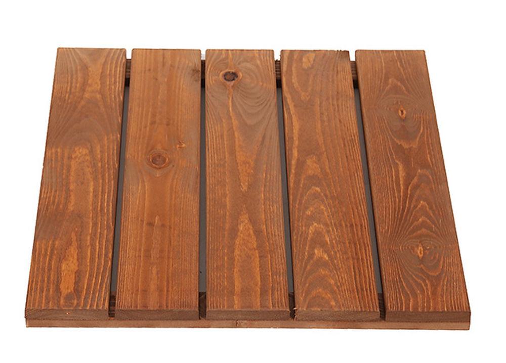 Pihalaatta, parvekelaatta, luonnon ruskea 50x50 cm