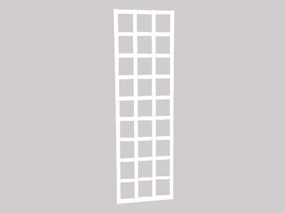 Köynnösritilä, valkoinen 56 x 180 cm